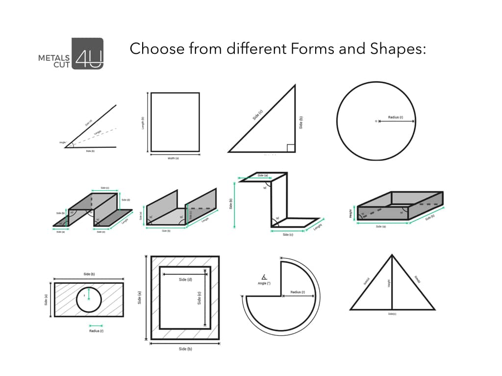 sheet metal forms and shapes