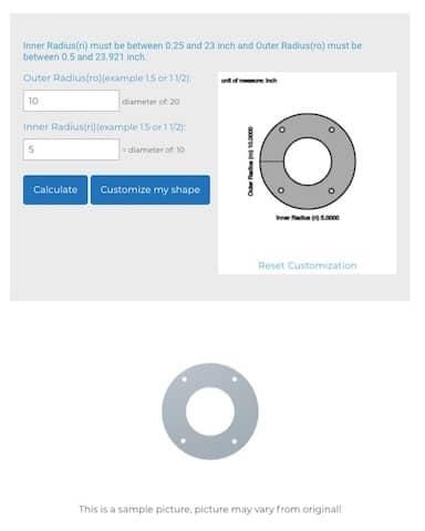 customized sheet metal ring