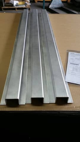 Aluminum Hat Channel custom fabricated