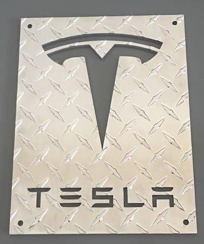ALuminum diamond plate - custom cut logo