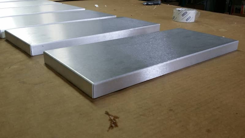 Aluminum sheet metal box tray custom made corners not welded