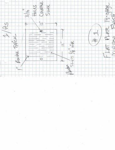 Custom Drawing of Metal Part Design