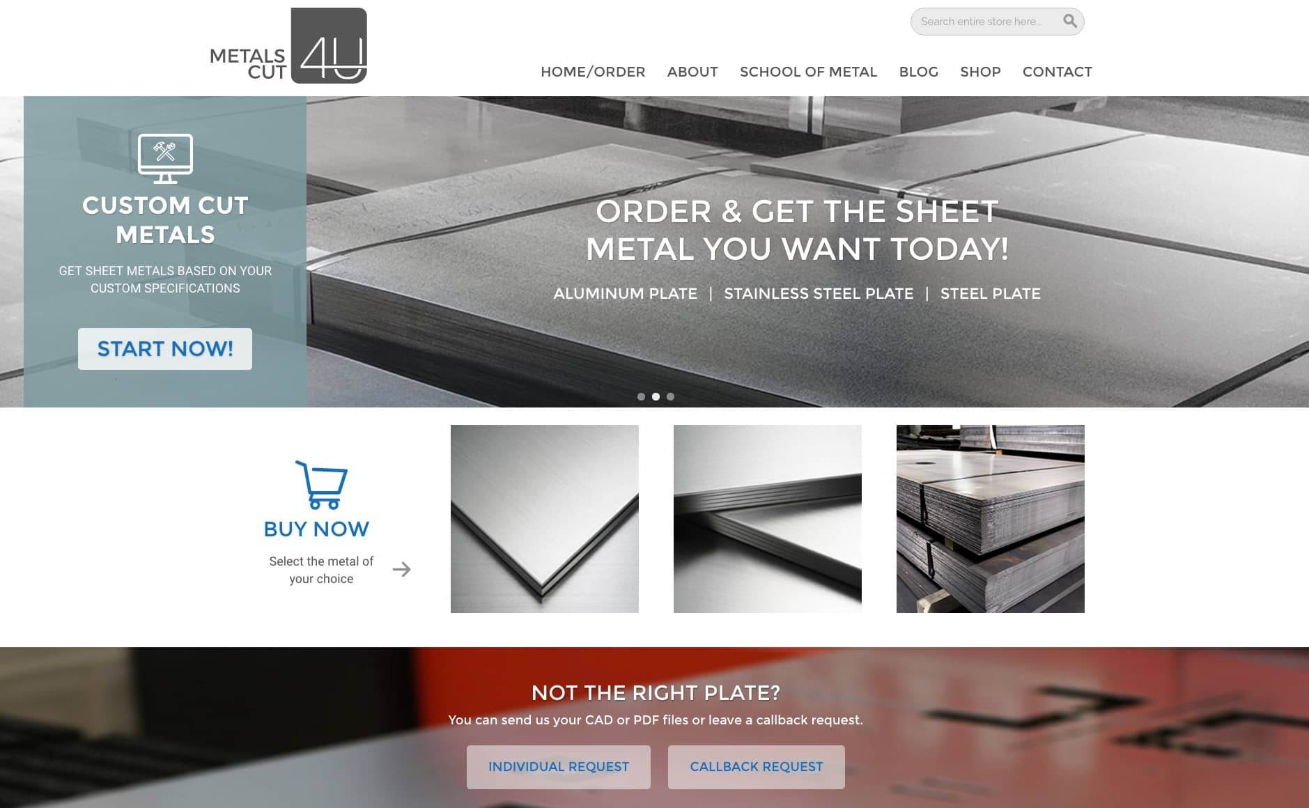 Order Sheet Metal online - we cut and bend to your specs