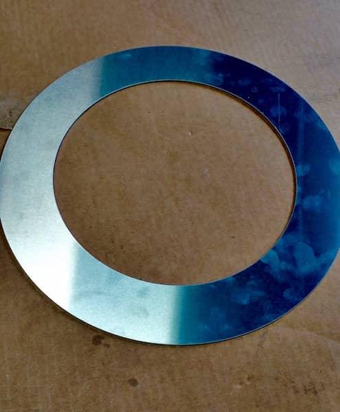 custom cut metal ring aluminum