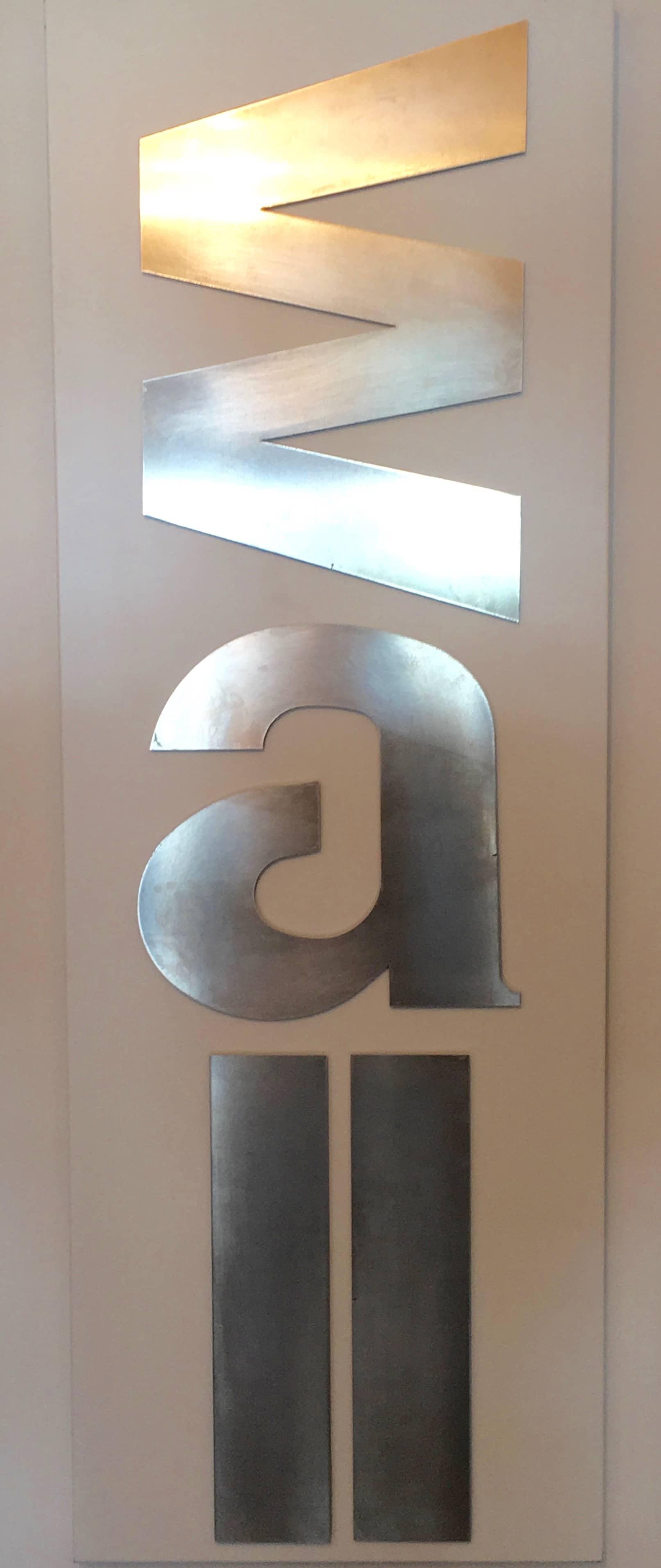 Aluminum sheet metal, design logo company sign, letter, letters