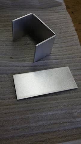 Aluminum sheet metal, U-Channel, custom made
