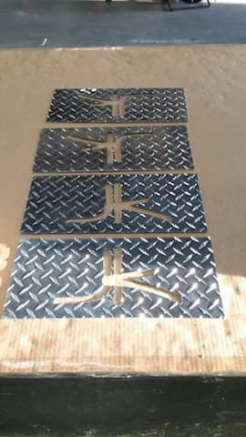 Custom Made Logo Aluminum Diamond plate