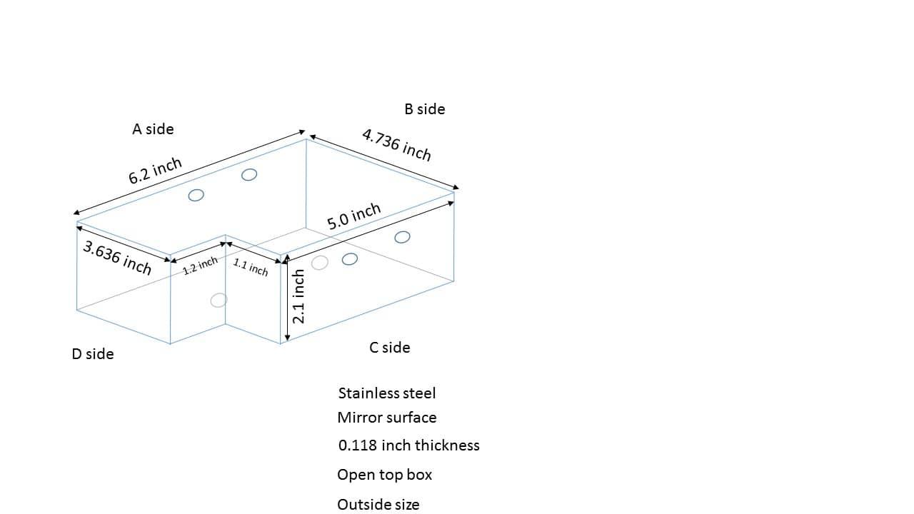 irregular box, tray, water tight