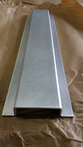 Aluminum hat channel cap channel, hat profile