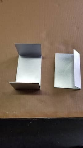 Aluminum U-Channel and angle custom angle degree