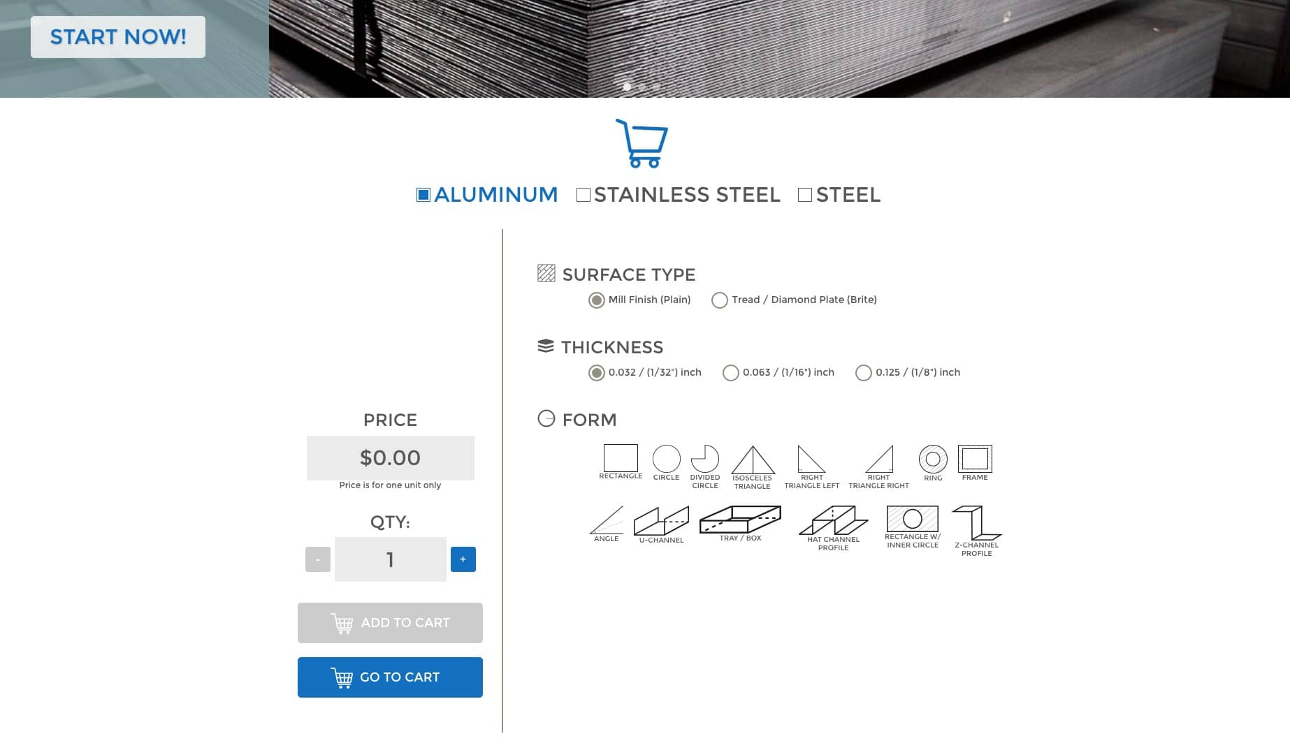 sheet metal ordering made easy -