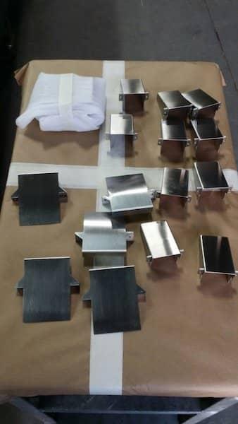 Stainless steel custom laser made box