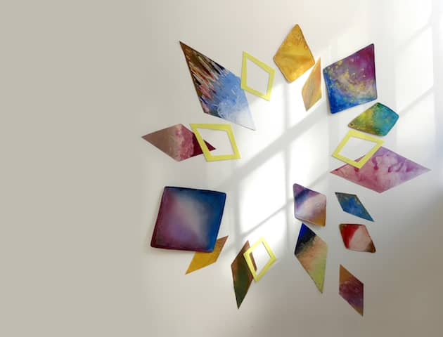 Custom laser Cut metal - art, colored by artist