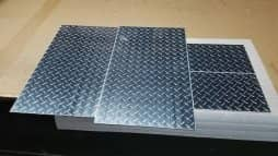 Aluminum Diamond Plate Rectangle