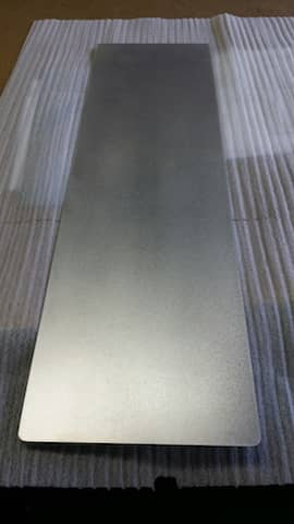 Aluminum sheet metal rectangle with rounded corners