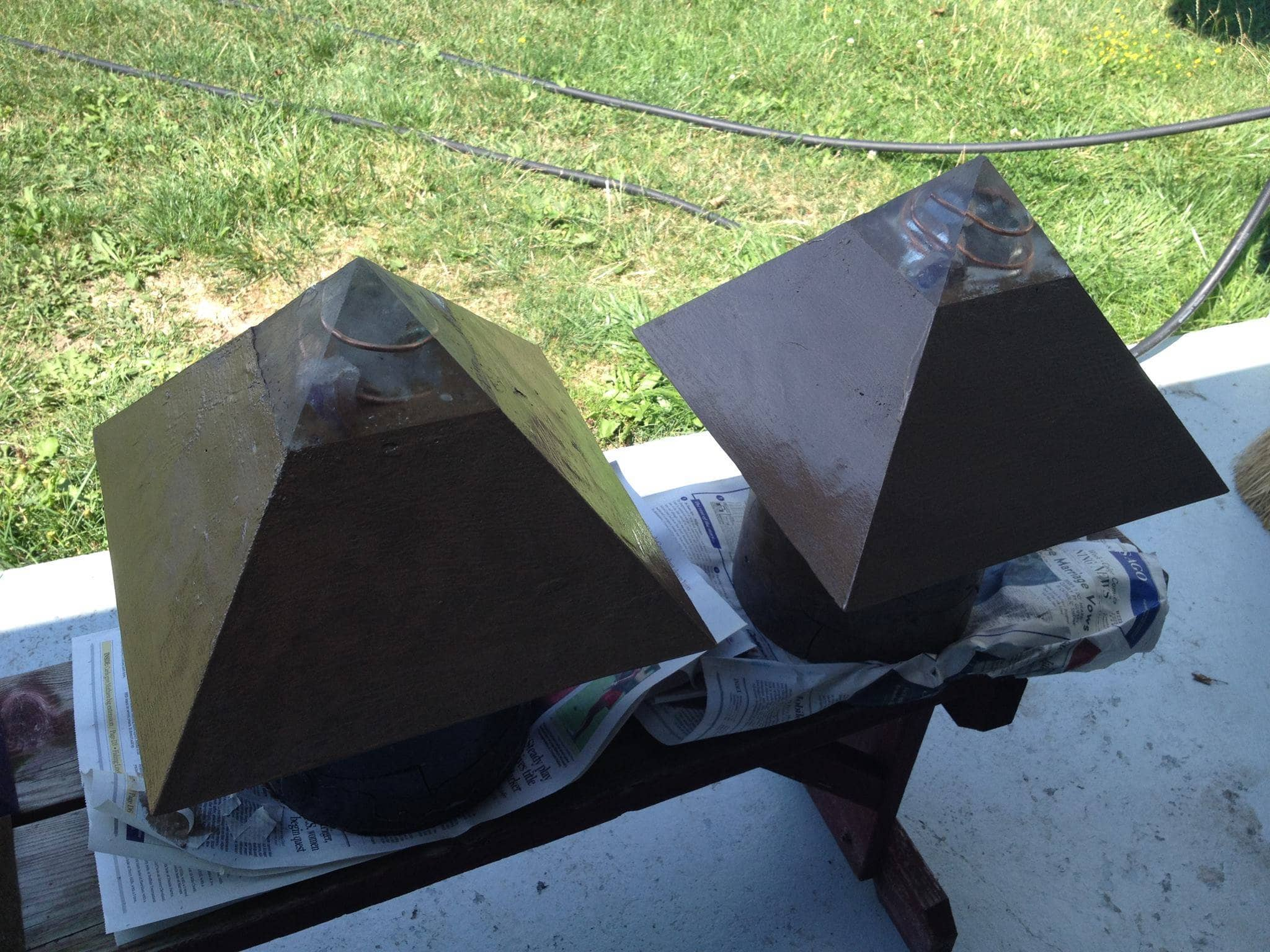 stainless steel sheet metal pyramid finished