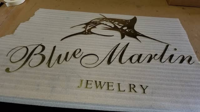 Custom Laser Cut Company Logo sign