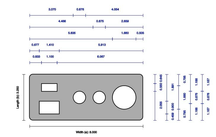 Technical CAD drawing