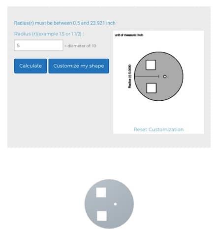 Customized sheet Metal circle