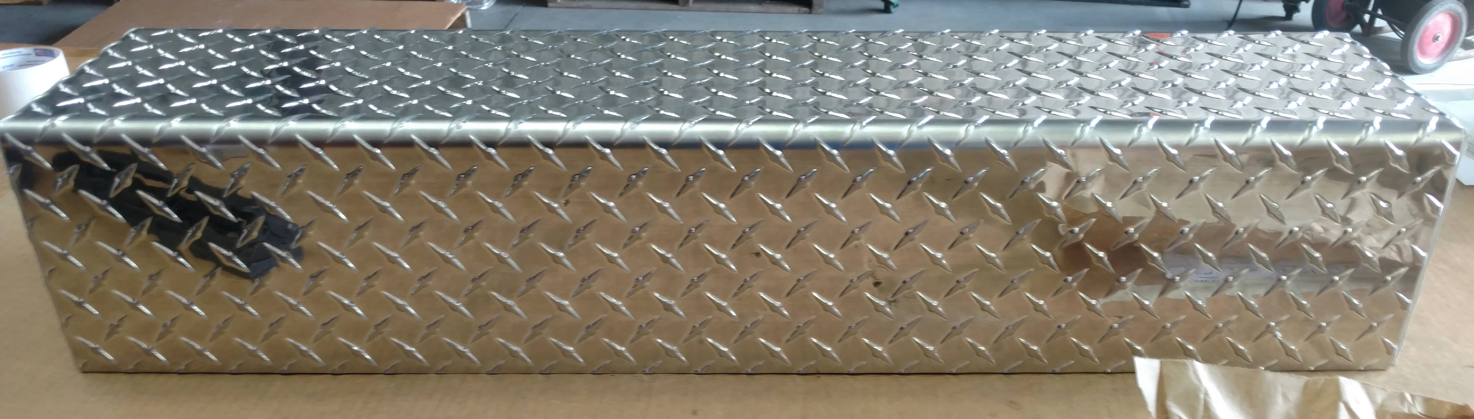 Aluminum Tread Plate Custom Cut Box Tray