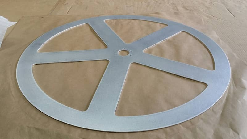 Aluminum Laser cut circle wheel with cut-outs
