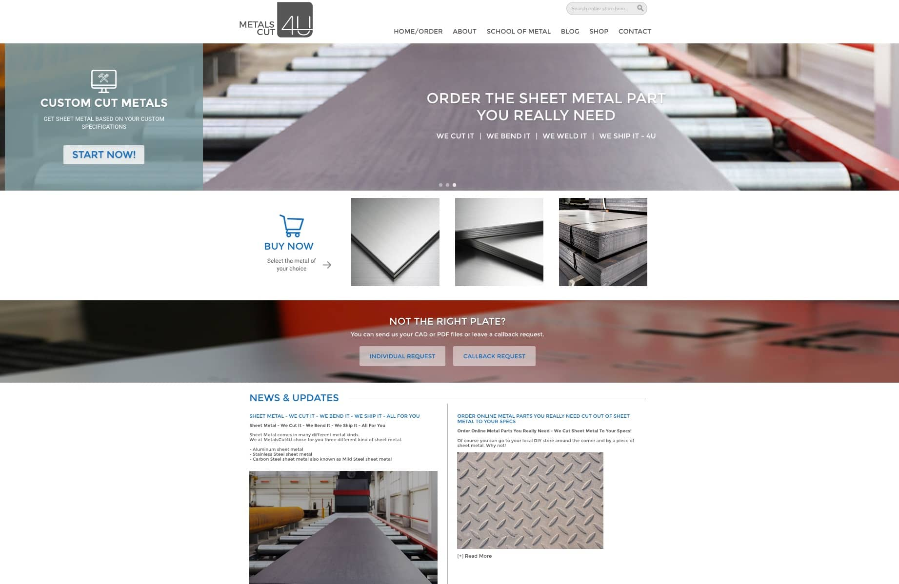 Sheet Metal - all the information and start point you need on a homepage