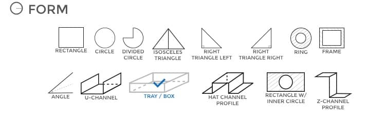 Sheet metal shapes you can configure online