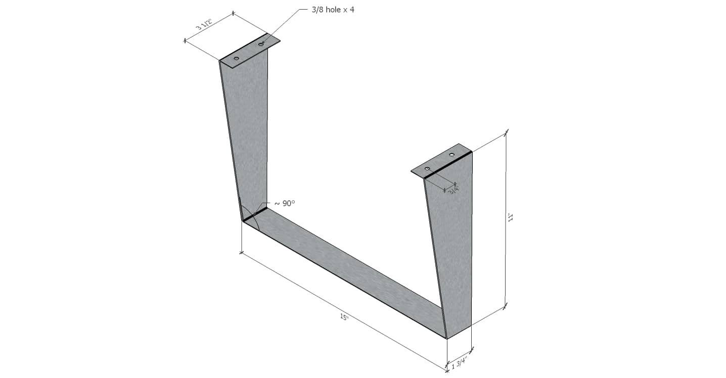 Custom Shelf Stand - drawing