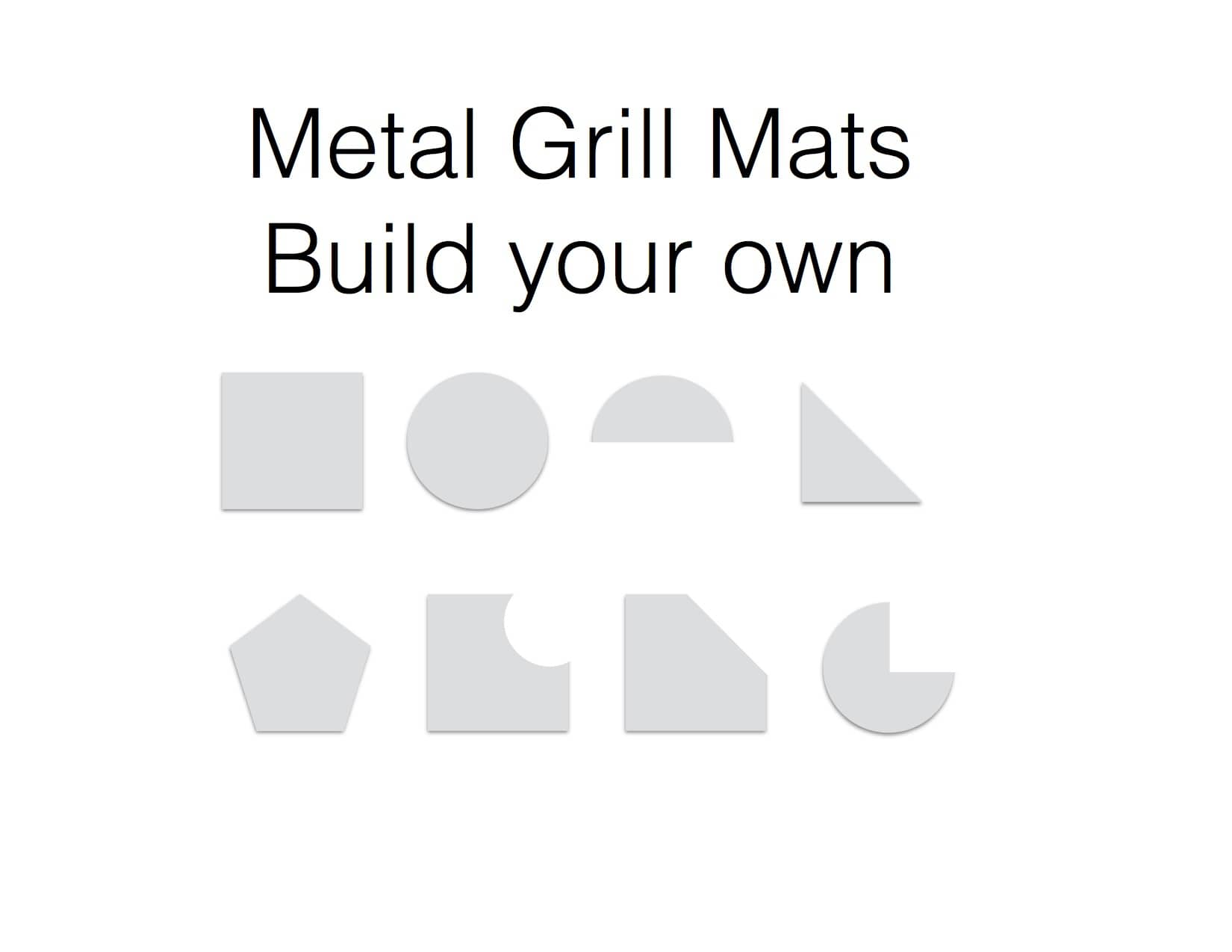 Grill Mat, made out of sheet metal