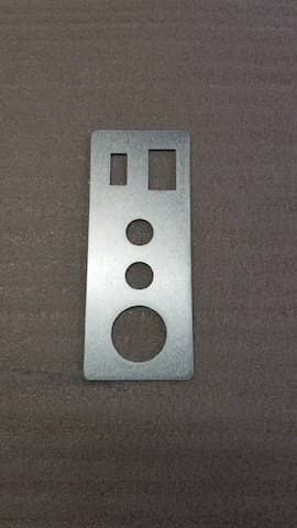Aluminum Rectangle with CAD cutouts