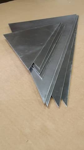 custom metal fabricated triangle