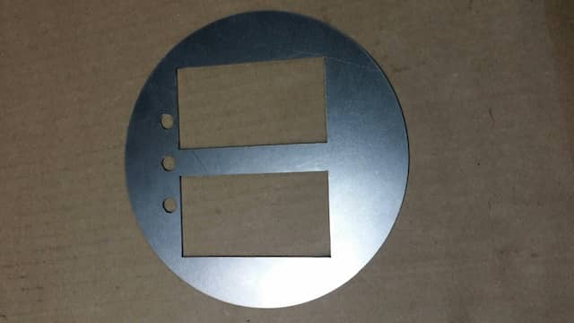 steel circle with custom cut-outs