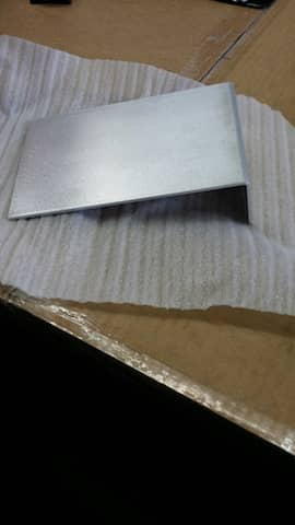 Aluminum custom bend angle corner guard