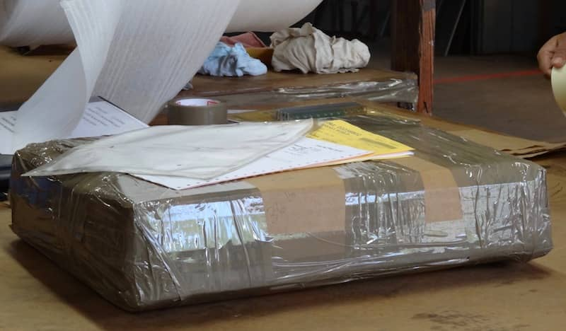 Safely packaged sheet metal part