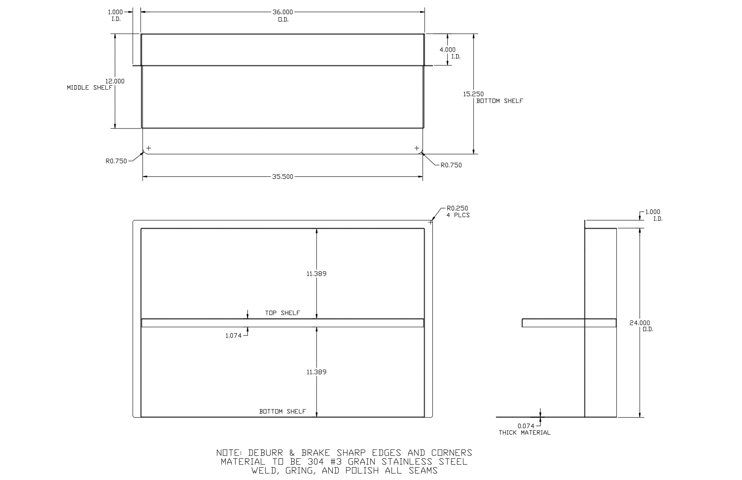 Stainless Steel CAD drawing