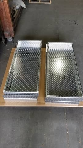 Aluminum Diamond Plate drawer cover