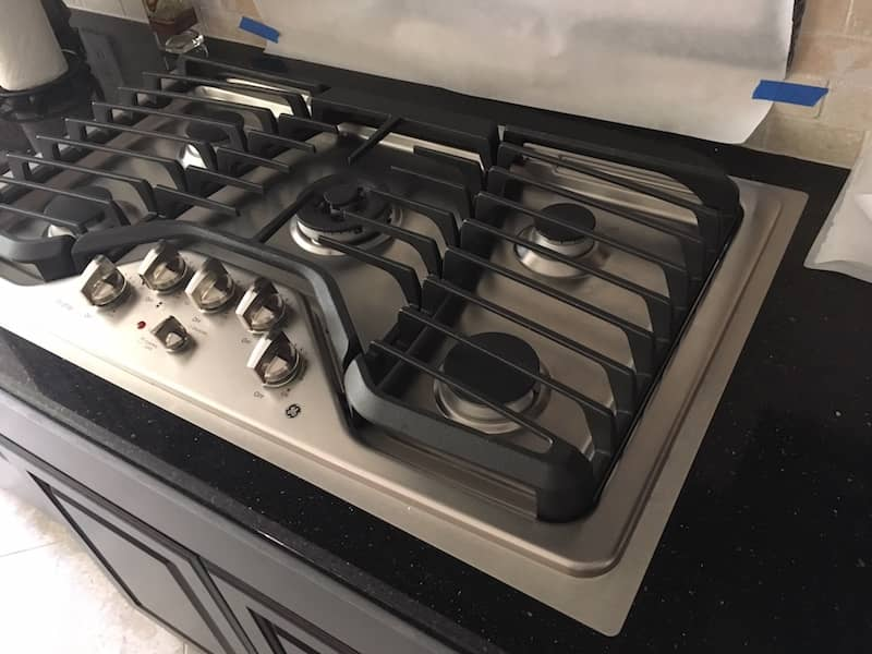 custom made stainless steel frame kitchen stove