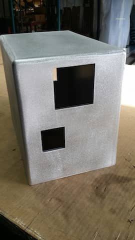 Aluminum welded box