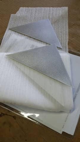 Aluminum Triangle, custom made, cut to size