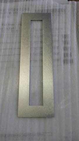 Custom Laser cut Aluminum frame