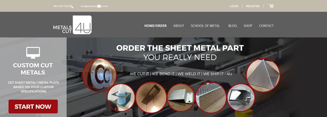 Sheet metal online website custom cut sheet metal