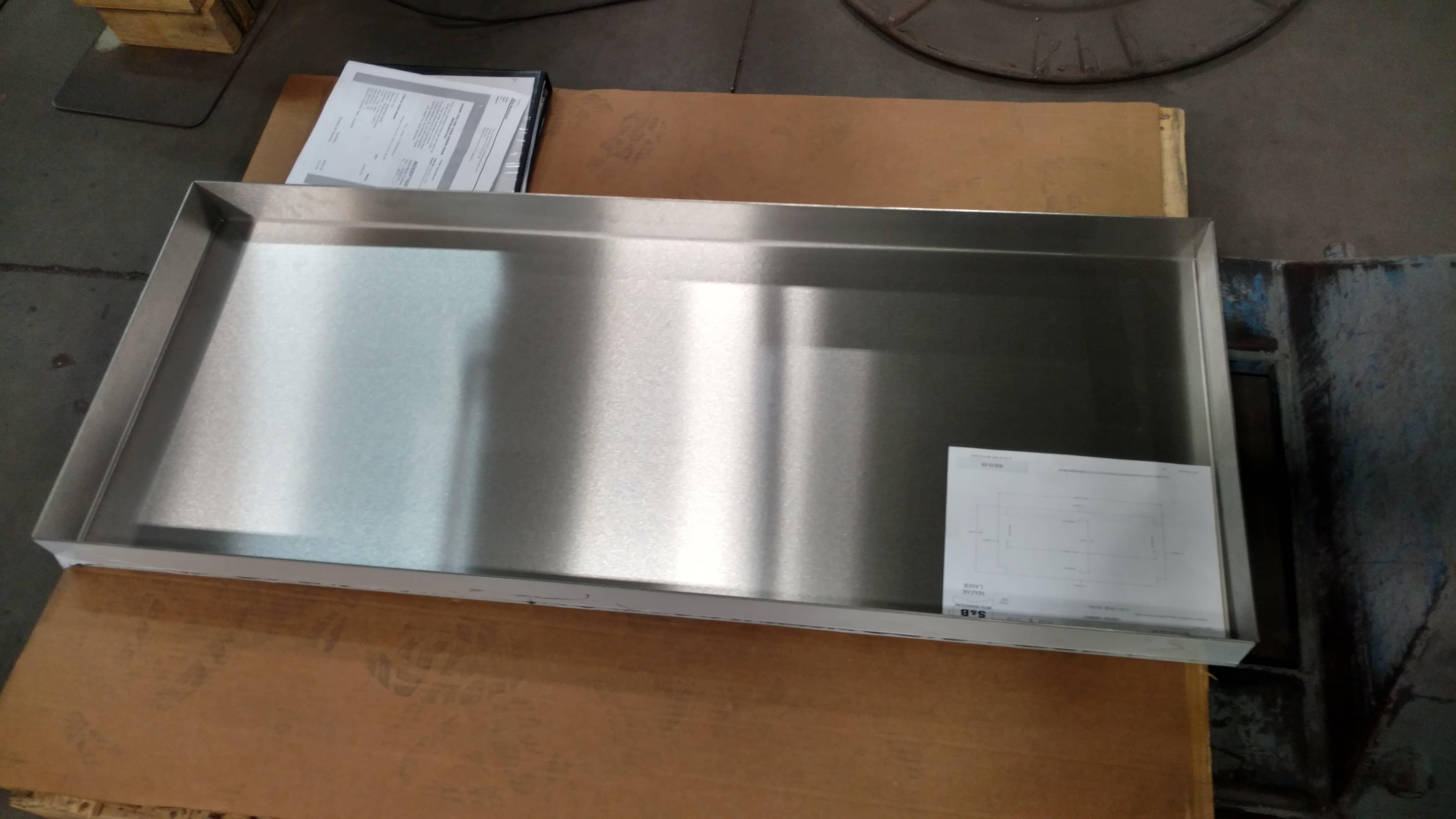 Custom made box tray aluminum sheet metal