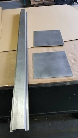 Aluminum Hat-Channel and square