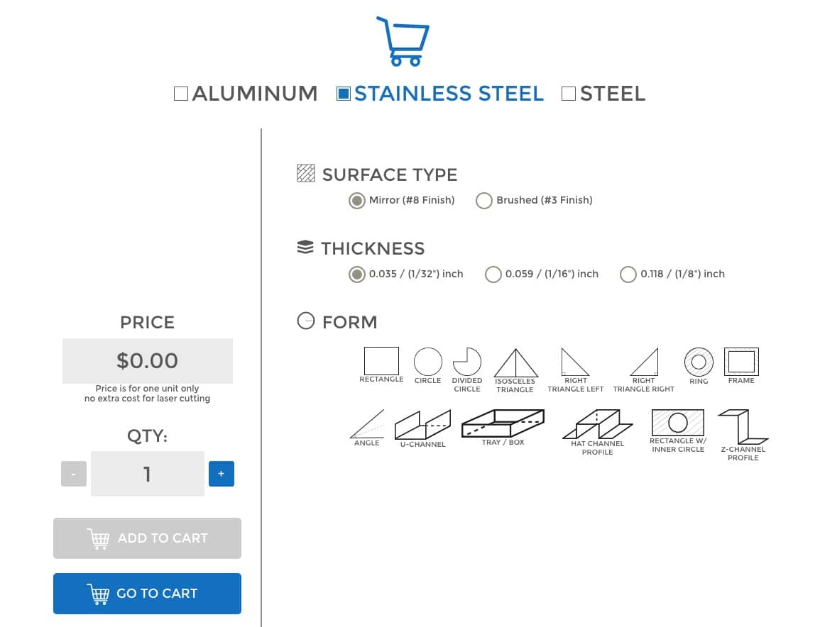Order sheet metal in 4 easy steps online