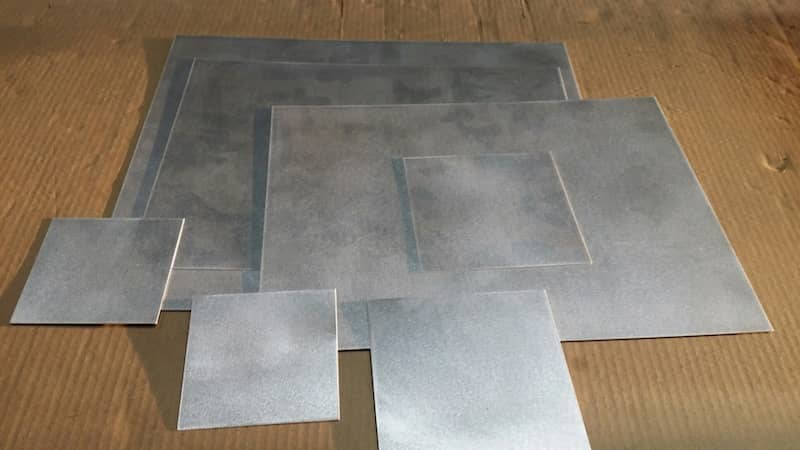 Aluminum Laser Cut Rectangle square