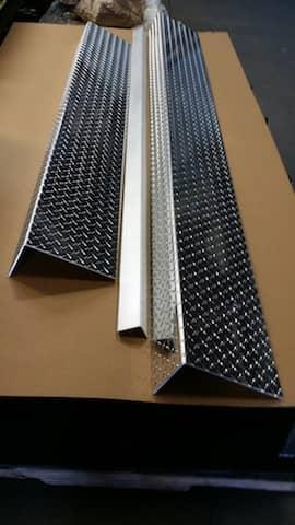 Angle, Bracket Aluminum Diamond Plate
