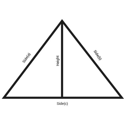 isosceles triangle sheet metal