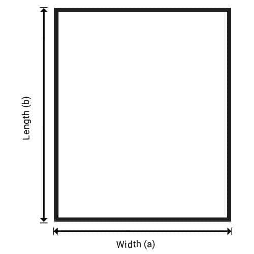 Rectangle sheet metal
