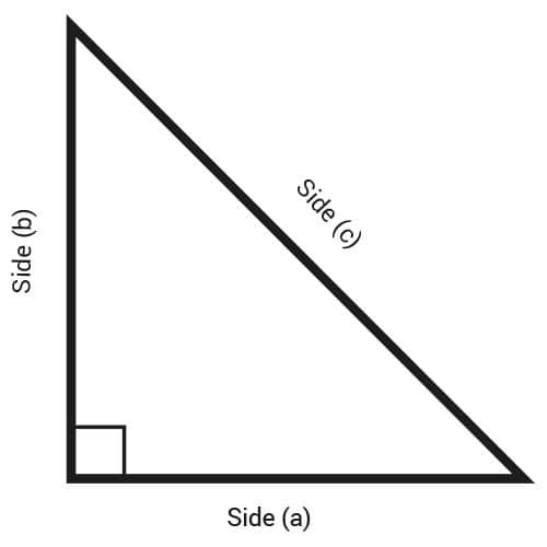 Right triangle sheet metal