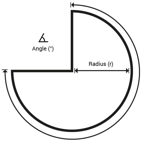 divided circle - sheet metal